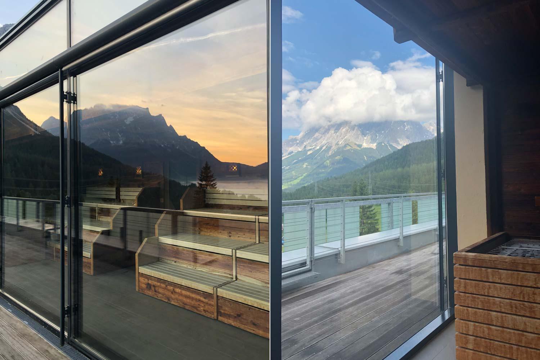 Sauna mit Panoramablick, hat man auch nicht oft