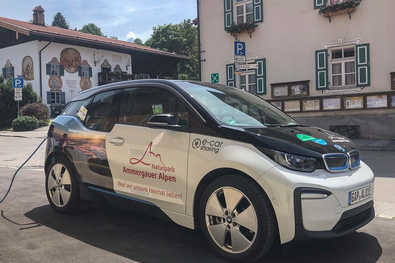 E-Carsharing Station in Bad Kohlgrub