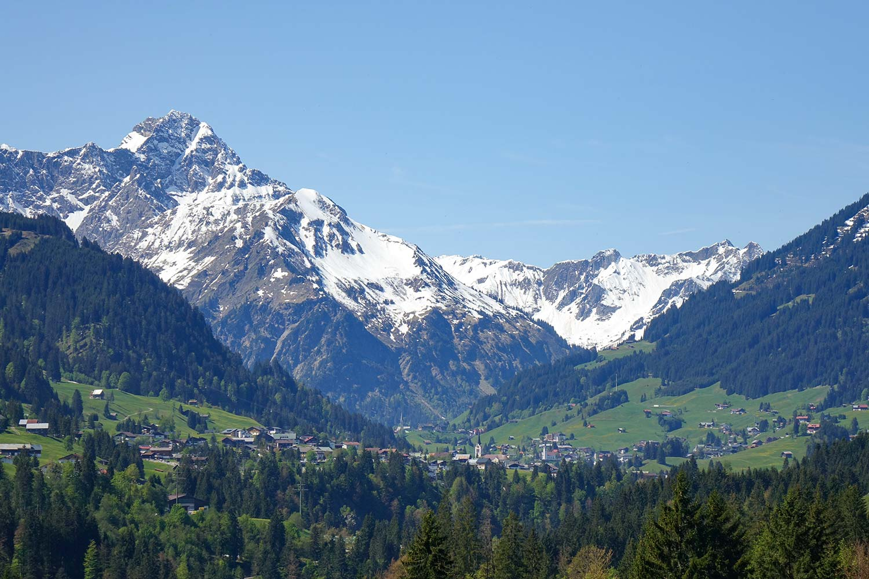 Panoramablick auf Oberstdorf