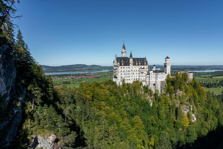 Schloss Neuschwanstein Blick von der Marienbrücke