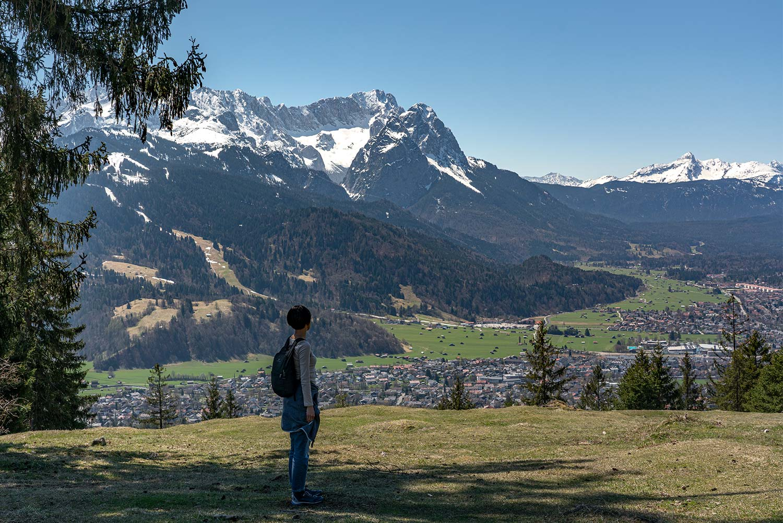 Panoramablick am Wank in Partenkirchen