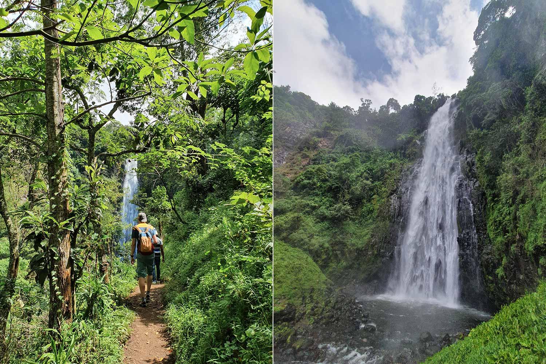 die letzten Meter vor dem Wasserfall