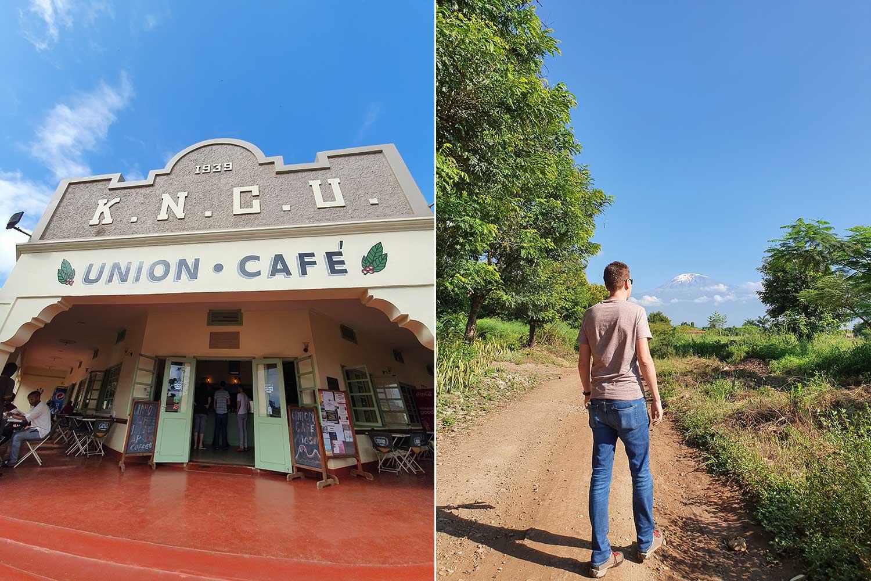zu Fuß unterwegs ins Zentrum von Moshi zum Union Cafe