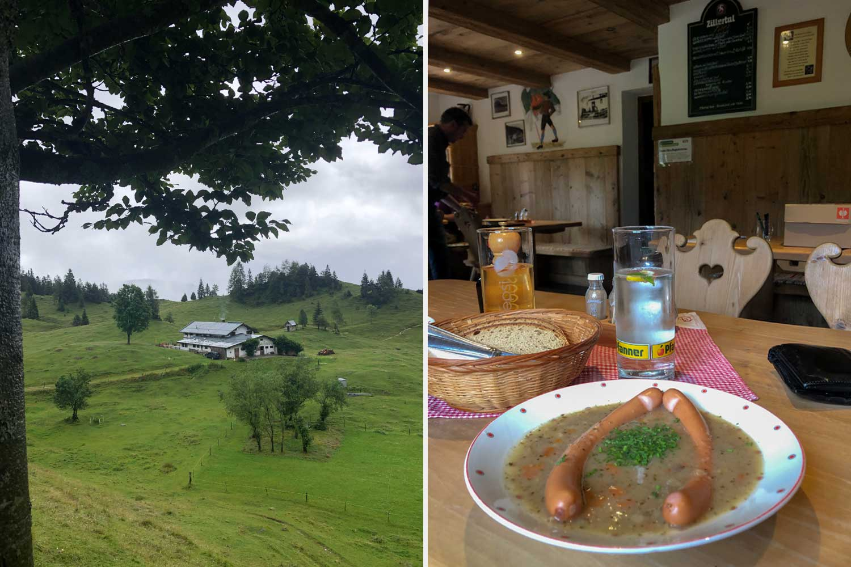lecker Gerstlsuppe mit Würstl im Höhlensteinhaus