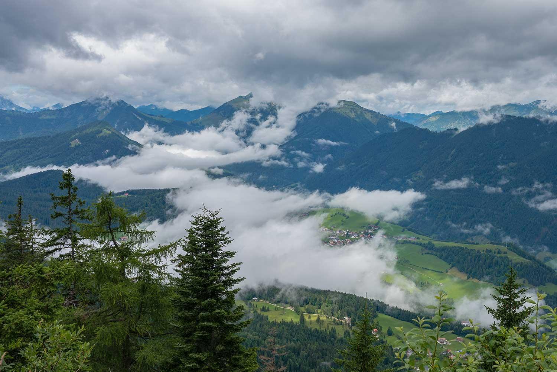 Ausblick auf Hinterthiersee im Kufsteinerland
