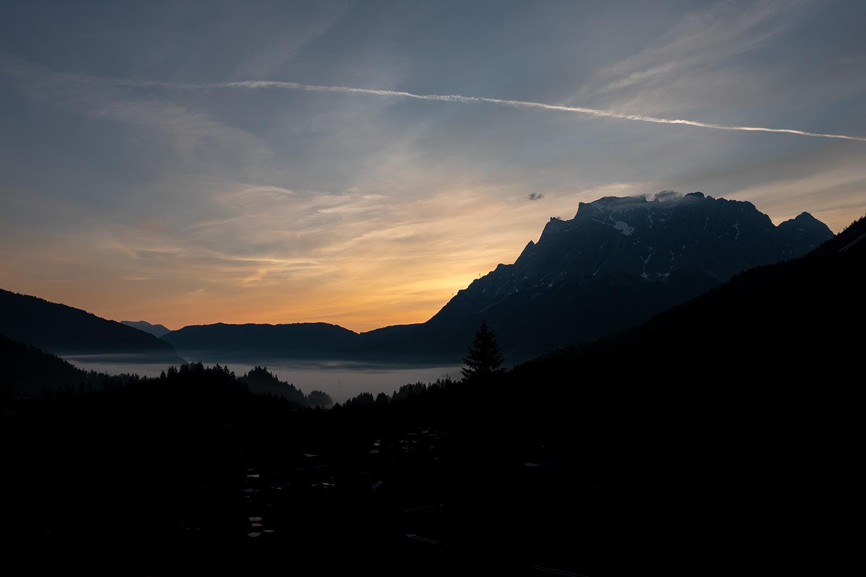 Sonnenaufgang von der Dachterrasse am MyTirol