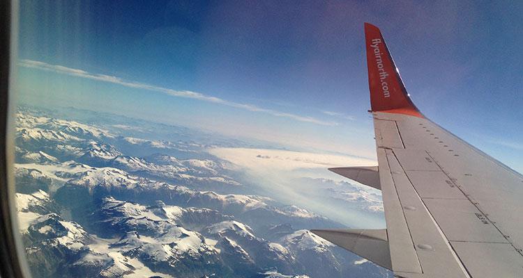 Flug von Whitehorse nach Vancouver
