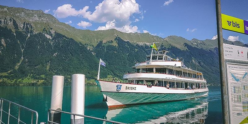 Reisetipps Brienzersee Schiff