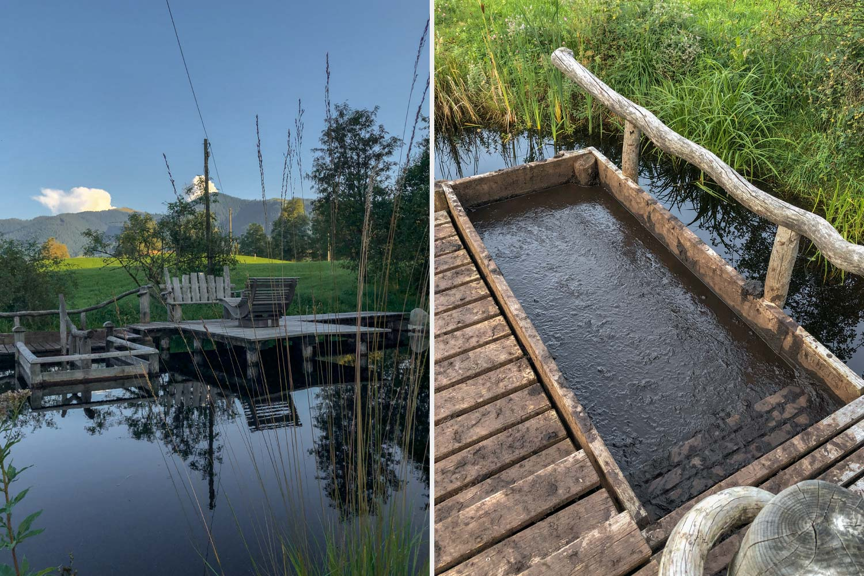 Moorlehrpfad bei Bad Bohlkrug, auch hier kann man sich erfrischen (mit etwas Überwindung)