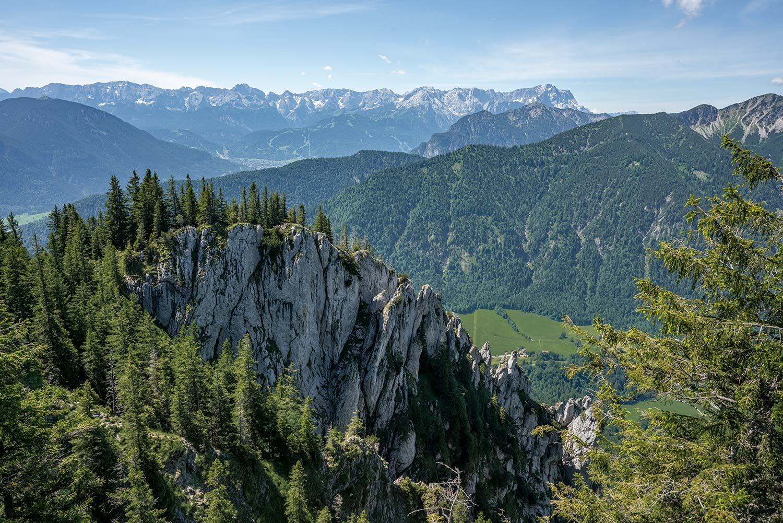 Zugspitzpanorama vom Laber bei Oberammergau