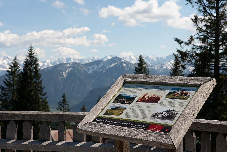 Blick bis zur Zugspitze vom Zeitberg