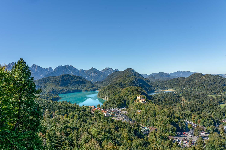 Panoramablick auf den Alpsee