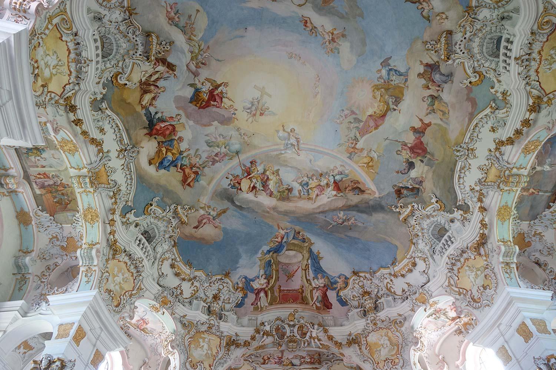 ein kleiner Teil der Fresken in der Wieskirche