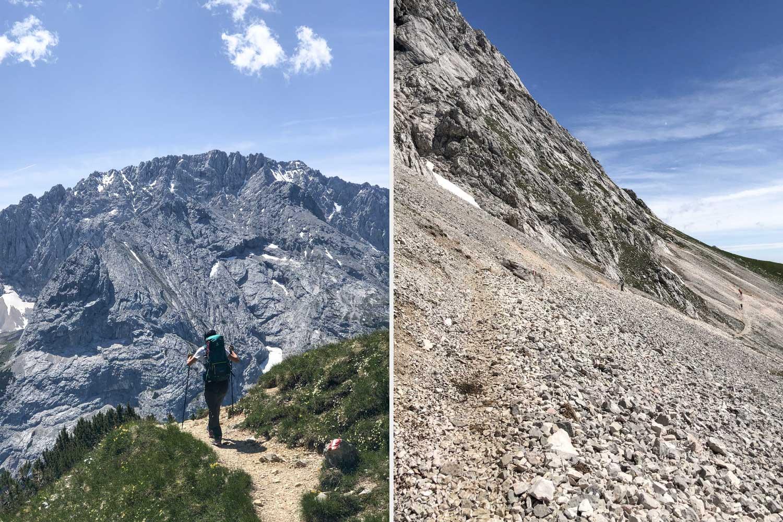 auf der Österreichischen Seite, wird das Panorama noch imposanter