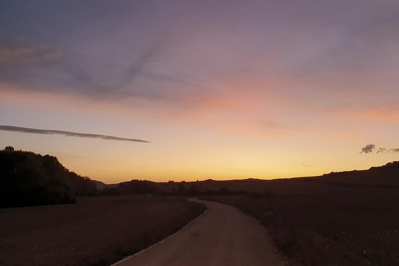 Jakobsweg Belorado Sonnenaufgang