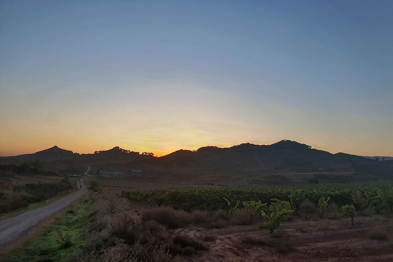 Sonnenaufgang Alto de Najera