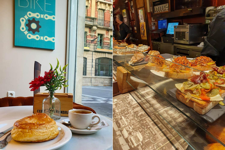 cafes und tapasbar in pamplona