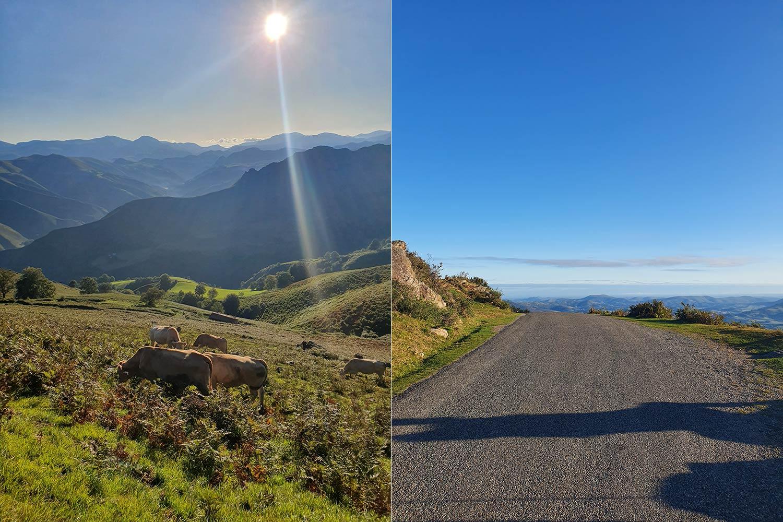 schöner Wanderweg in Pyrenäen