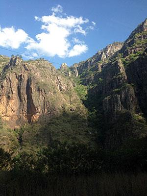 Zugfahrt durch den Copper Canyon
